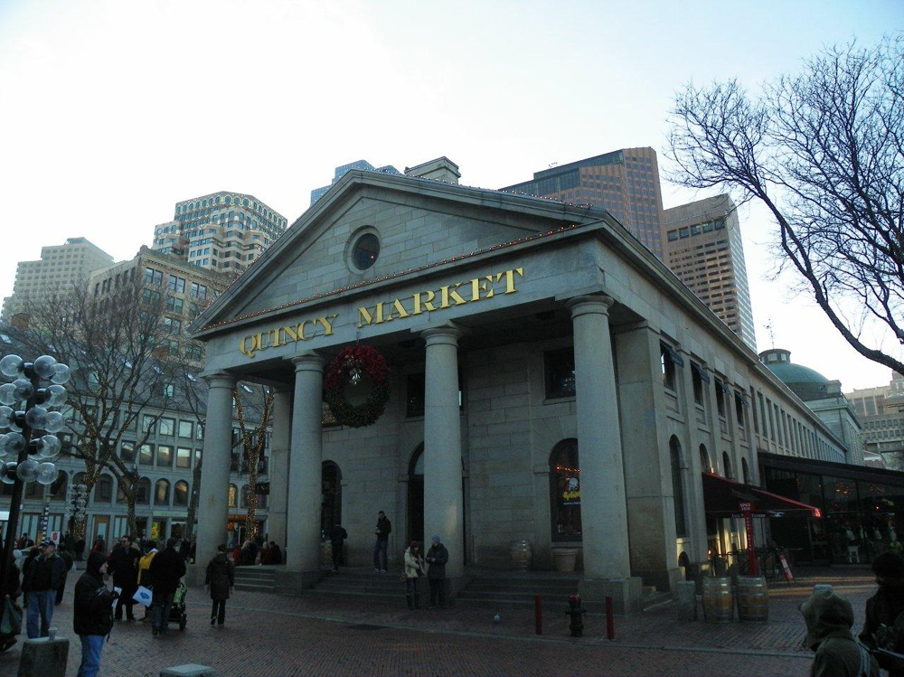 Quincy Market Also Combines More Than 50 S 14 Restaurants 40 Food Court Stops And Faneuil Hall Marketplace Is Boston Ping At Its Best With