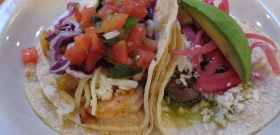 Shrimp taco beef taco
